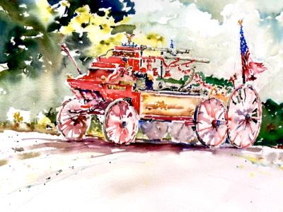 Civil War Era Firetruck