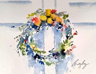 Colonial Fruit Wreath