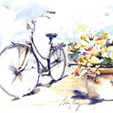 Market Bicycle with Plant
