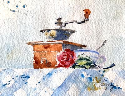 Coffee Grinder & Cup