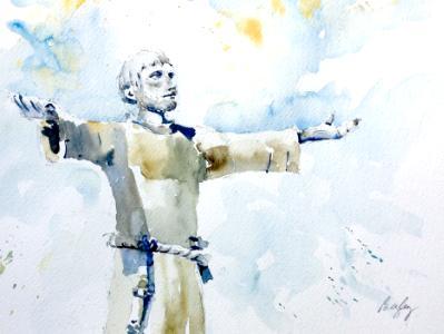 St Francis - Bronze Statue