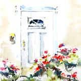 Summer Door with flowers
