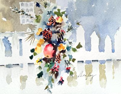 Colonial Christmas Swag
